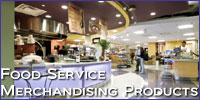 food service merchandising products
